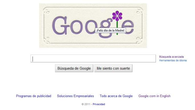 Dia de las madres Google Doodle