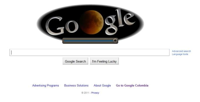 Eclipse de luna Google Doodle