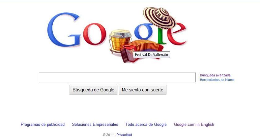 Festival Vallenato Google Doodle