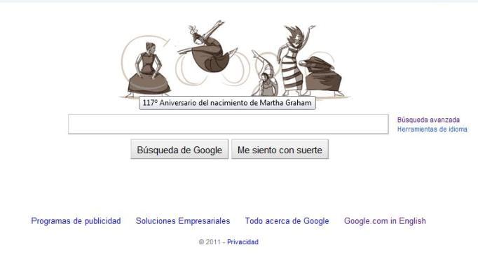 Martha Graham Google Doodle