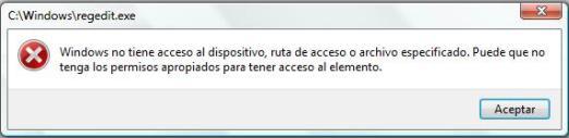 error-regedit