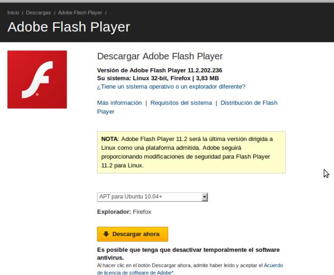 adobe quita soporte flash a linux