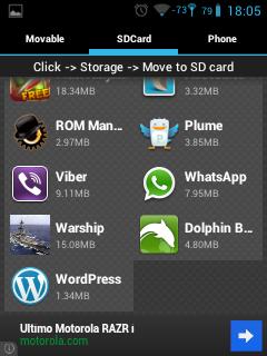 Combatiendo la carencia de espacio en la memoria ROM en Android (2/2)