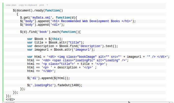 Usando jQuery para Obtener Datos de un Archivo XML (2/2)