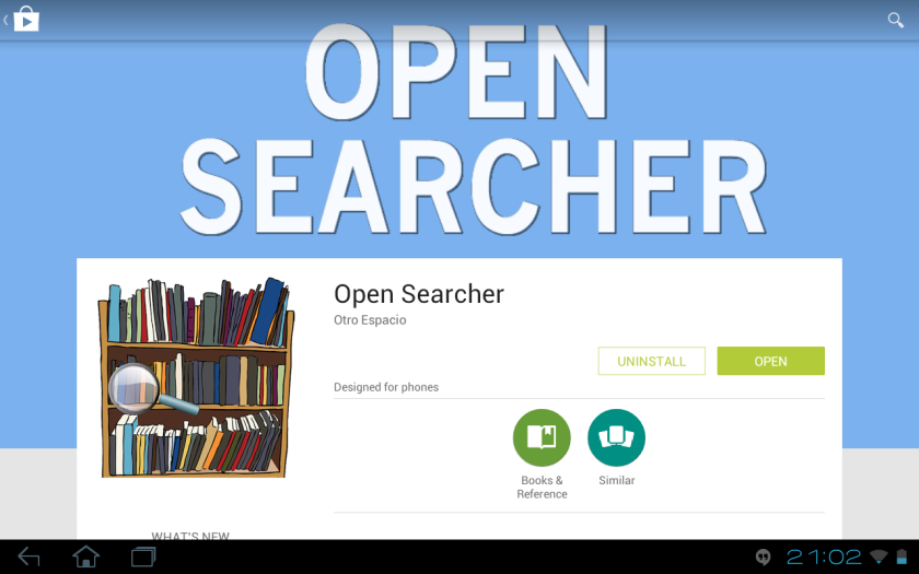 open searcher en google play