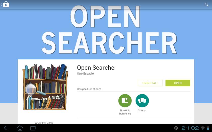 open searcher en google play