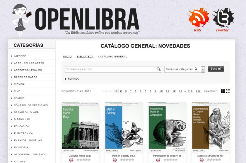 open libra la biblioteca libre