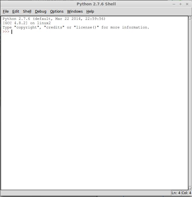 python idle en linux mint
