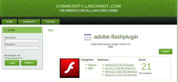 actualizar flash player en linux mint