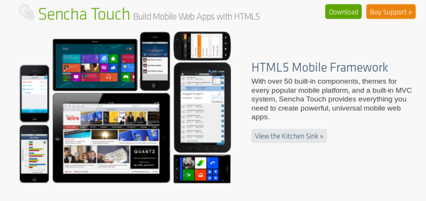 sencha touch javascript mobile apps suite