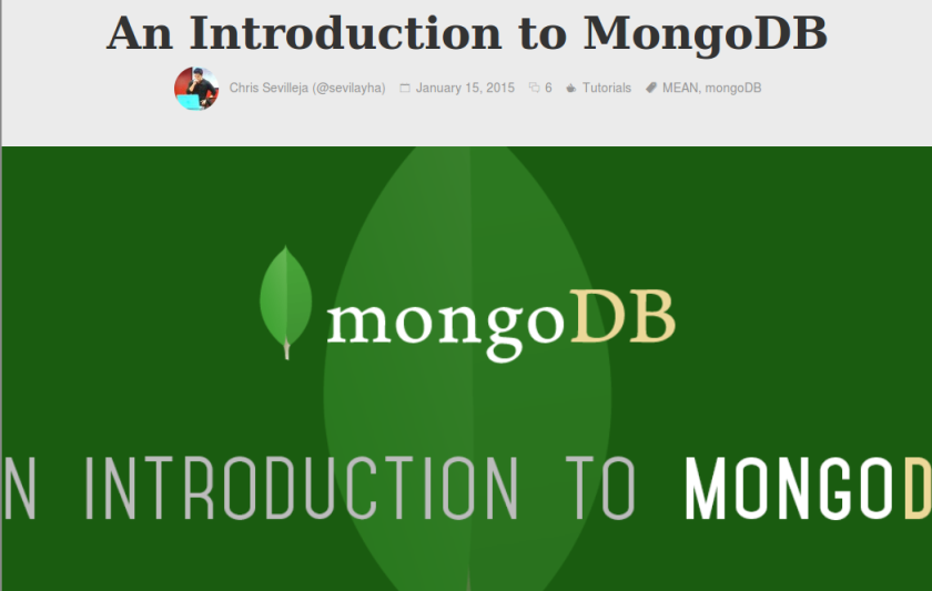 mongodb tutorial scotch io