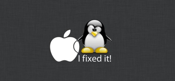 tux-and-apple
