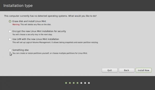 tipo de instalacion de linux mint