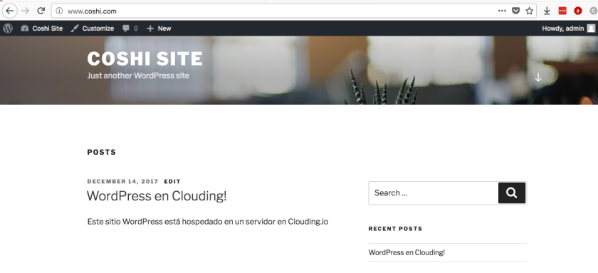 wordpress en clouding.io
