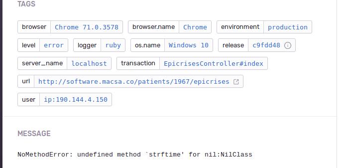 error sentry rails app